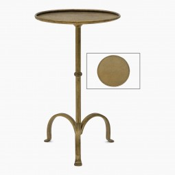 Gilded Iron Tripod Drinks Table