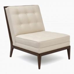 Walnut Slipper Chair