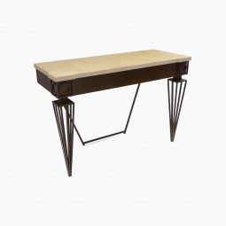 Iron Console Table with Tapered Legs