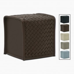 Woven Leather Tissue Box Cover