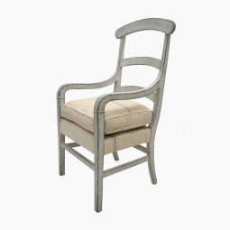 French Tall Painted Ladder Back Chair