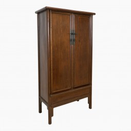 Early 19th Century Elm Armoire