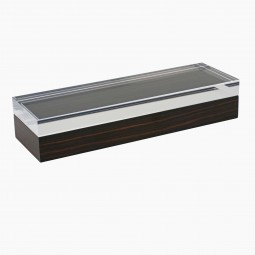 Long Macassar Ebony Box with Lucite Top