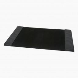Italian Black Leather Desk Blotter