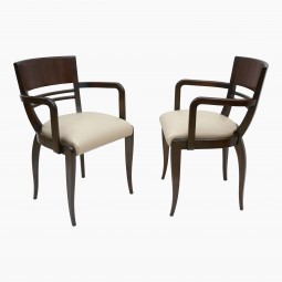 French Rosewood Arm Chairs