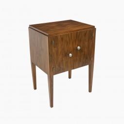 Art Deco French Walnut Cabinet