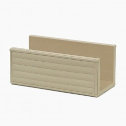 Italian Ivory Leather Envelope Holder