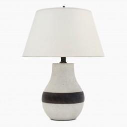 Striped Stoneware Table Lamp by Bruno Gambone
