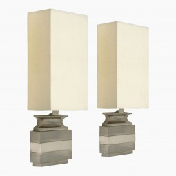 Pair of White Bronze Urn Shaped Bagues Sconces