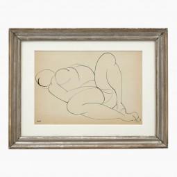 Ink Drawing of Nude by Josif Iliu
