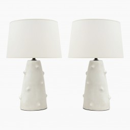 Pair of Conical Ceramic Table Lamps