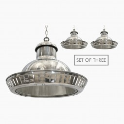 French Industrial Style Aluminum Pendant Lights