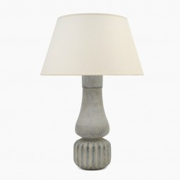 Painted Turned Wood Lamp with Reeded Base