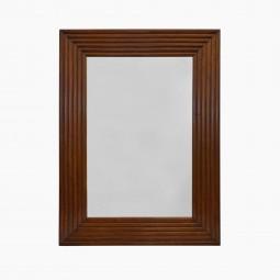 Ribbed Mahogany Mirror