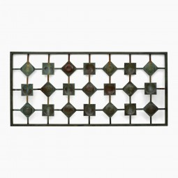 Hammered Copper and Steel Wall Sculpture