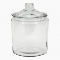 French Glass Cuisine Jar with Lid