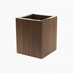 Natural Oak and Horn Tissue Waste Paper Basket