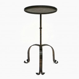 Iron Table with Tripod Base