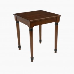 Square Walnut Side Table