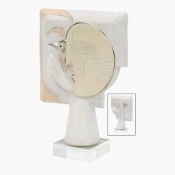 White Ceramic Figural Sculpture by John Born