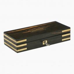 Small Coromandel Brass Bound Box