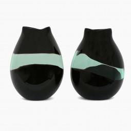 Pair of Murano Glass Vases, Signed Salviati