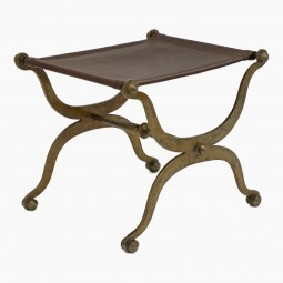 Italian X-Form Bronze Bench