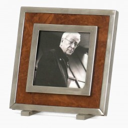 Wood and Nickel Silver Picture Frame