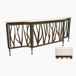 French Bronze Console with Marble Top