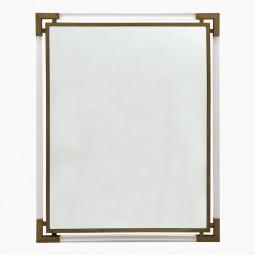 Italian Lucite and Brass Mirror