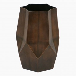 Star Shaped Patinated Copper Umbrella Stand