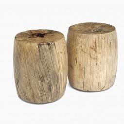Circular Wood Stool or Side Table