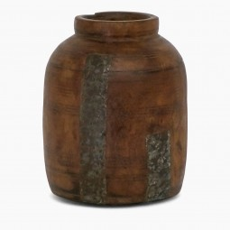 Antique Wood Milkpot Vase