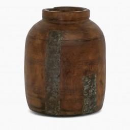 Antique Wood Milkpot Vase