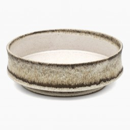 Stoneware Studio Bowl in Beige and Brown