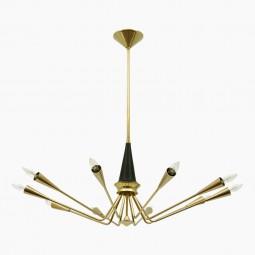 Brass Chandelier by Torlasco