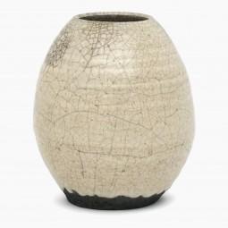 Crackle Glaze Raku Vase