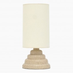 Crackle Glazed Stepped Stoneware Table Lamp