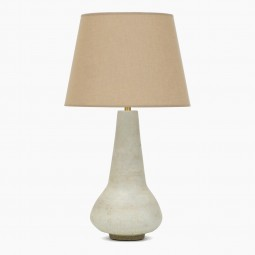 Off-White Stoneware Table Lamp
