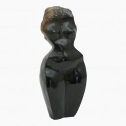 Black Marble Female Nude Sculpture
