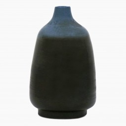 Blue and Black Ceramic Lamp