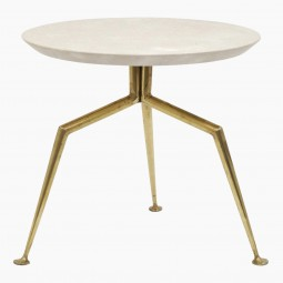 """Brass """"Spider"""" Table with Marble Top"""