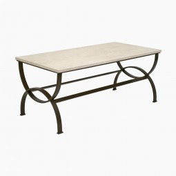 Curule Form Iron Coffee Table