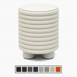 Italian Ribbed Leather Stools