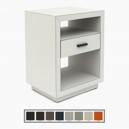 Italian Leather Night Stand