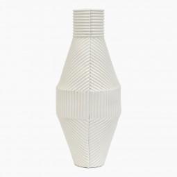 White Porcelain Corrugated Vase