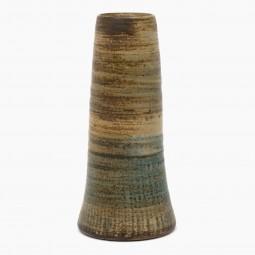 Textured Light Brown Stoneware Vase