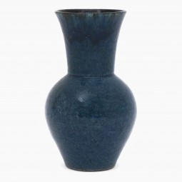 Blue Drip Glazed Vase