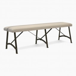 Long Wood and Iron Bench