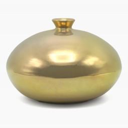 Ceramic Gold Glazed Vase
